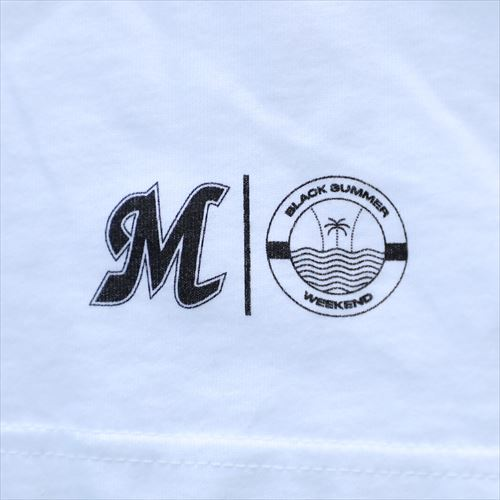 BLACK SUMMER WEEKEND MARINESロゴ ビッグTシャツ ホワイト