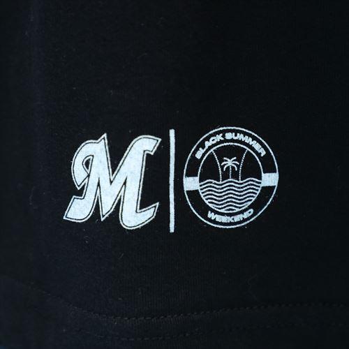 BLACK SUMMER WEEKEND MARINESロゴ ビッグTシャツ ブラック
