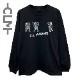 マーくんイラストロゴ 長袖Tシャツ ブラック (CLM21-023)