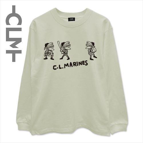 マーくんイラストロゴ 長袖Tシャツ ピスタチオ (CLM21-023)