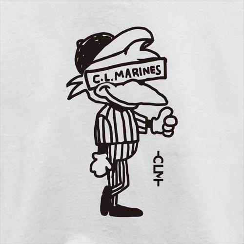 キッズマーくんイラスト長袖T ホワイト(CLM21-501)