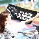 BLACK SUMMER WEEKENDフェイスタオル(ロゴ)