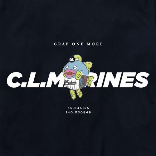 キッズ謎の魚マリーンズロゴT ブラック(CLM21-502)