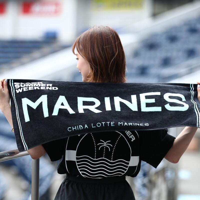 BLACK SUMMER WEEKENDフェイスタオル(marines)