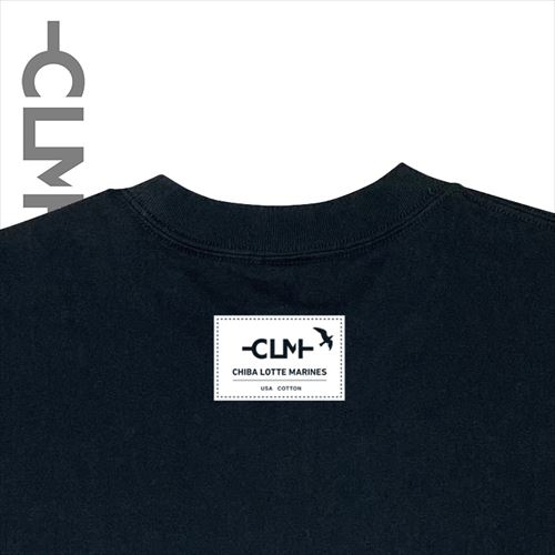 9.4oz US COTTON PK付TEE ブラック(CLM21-025)