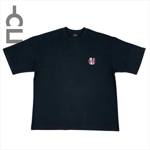 9.4oz US COTTON 刺繍TEE ブラック(CLM21-026)