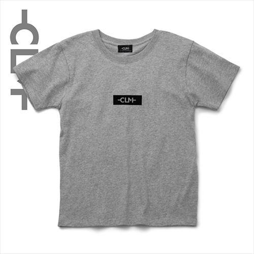 ワッペン付きBOXロゴPtTシャツ 杢グレー (CLM21-007)