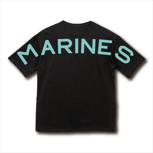 【受注販売】BSW MARINESロゴビッグTシャツ(フロントプリント) ブラック
