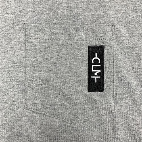 刺繍ネーム付きポケットTシャツ 杢グレー(CLM21-006)