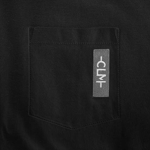 刺繍ネーム付きポケットTシャツ ブラック(CLM21-006)