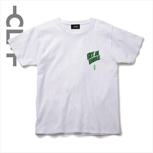 HIT AS BUBBLEイラストTシャツ ホワイト(CLM21-004)