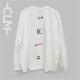 バリエーションロゴ長袖BIGTシャツ ホワイト(MRT20-6063)