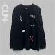 バリエーションロゴ長袖BIGTシャツ ブラック(MRT20-6063)