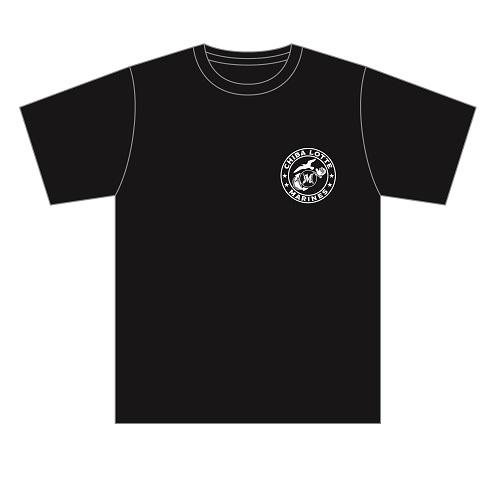 Marines 海軍風Tシャツ(ブラック)