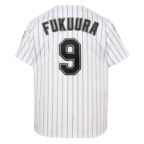 ※L・XLサイズ※<福浦選手引退記念グッズ><br>福浦選手引退ゴールドロゴワッペン付きレプリカユニフォーム