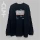 海岸フォト長袖BIGTシャツ ブラック(MRT20-6064)