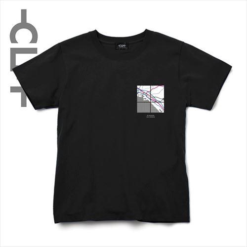 Coordinateデザイン半袖TEE ブラック(CLM21-010)
