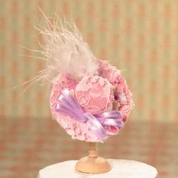ドールハウス用 マピンク婦人帽6310