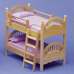 ドールハウス用 ナチュラル2段ベッド2538
