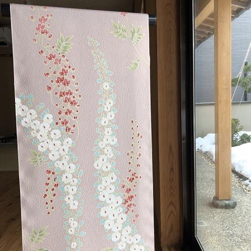 [小紋] 「蘭」 ピンク・パープル系(仕立て代込)