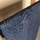 njf-05[麻織物][夏着物]本麻手織 能登上布 縞/紺 織元 山崎仁一 (仕立て代込み)