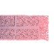 《ビージュエルド》ストール(日本製) デニムカットに刺繍【ピンク】