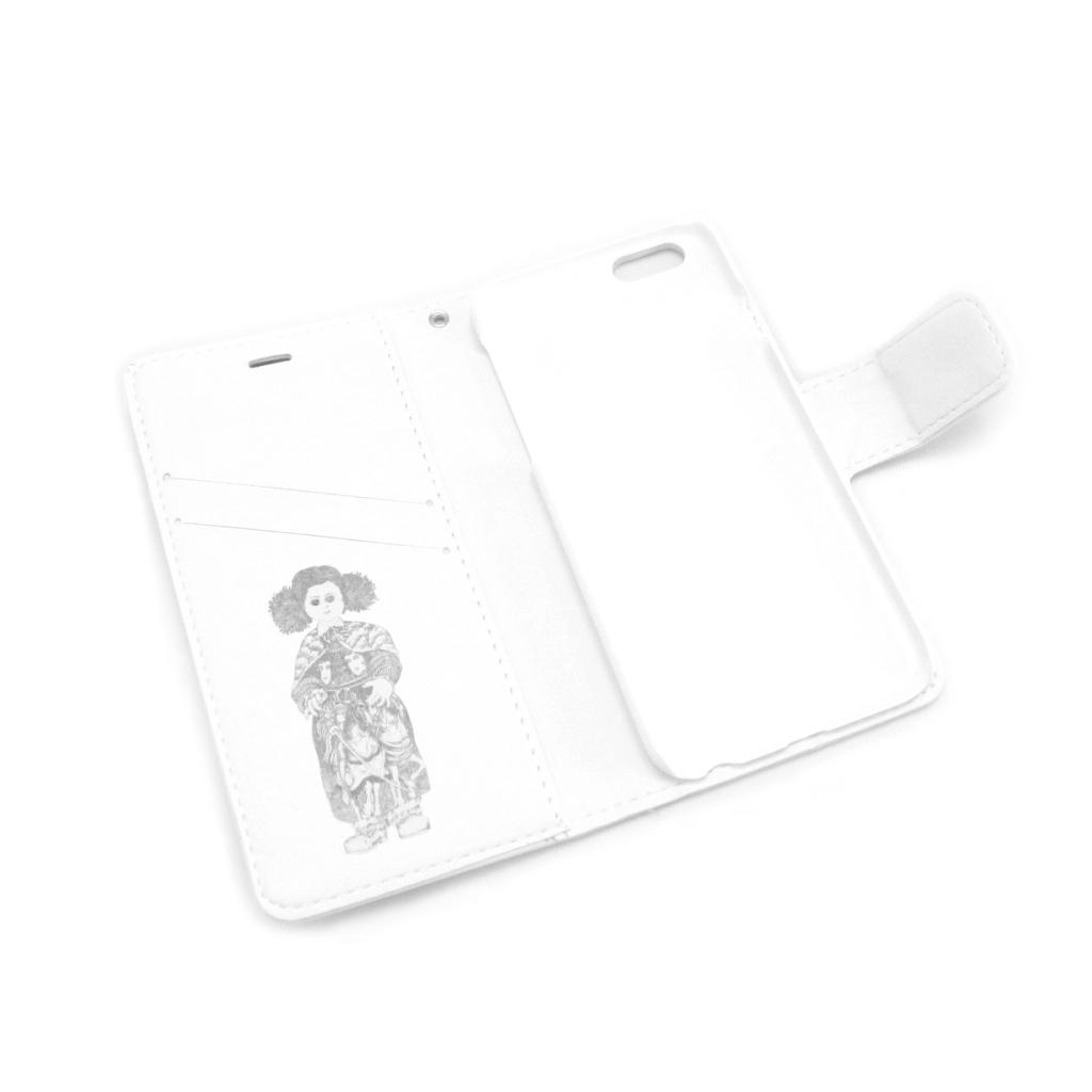 《伊坂芳太良イラスト》iPhone6/6s手帳型ケース●名入れサービス込み●