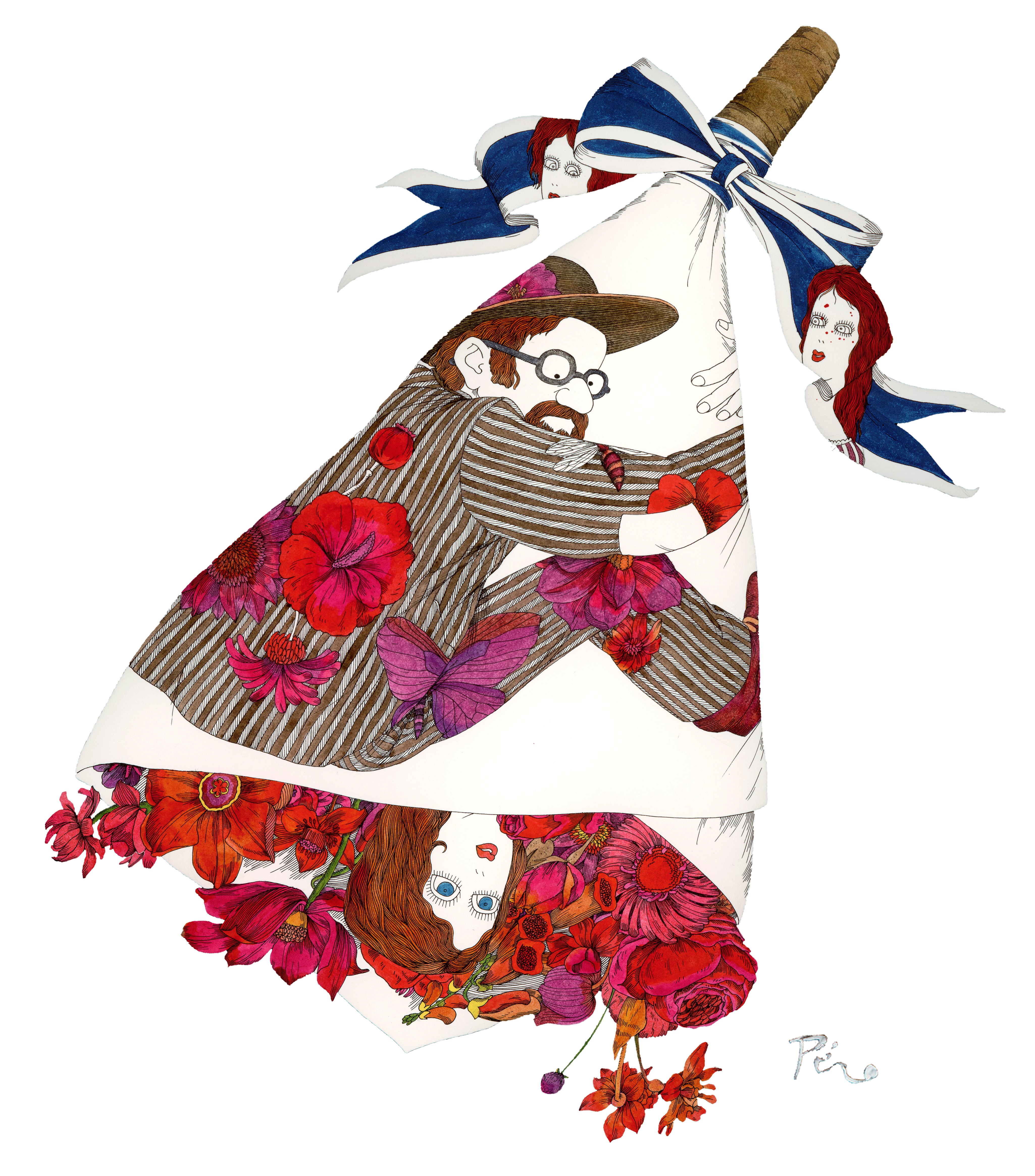 伊坂芳太良 illustration <br>マグカップM<br>(お好きなデザインをどうぞ)