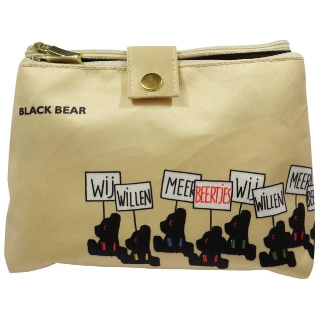 BLACK BEAR ミラー付きポーチ ブラックベア