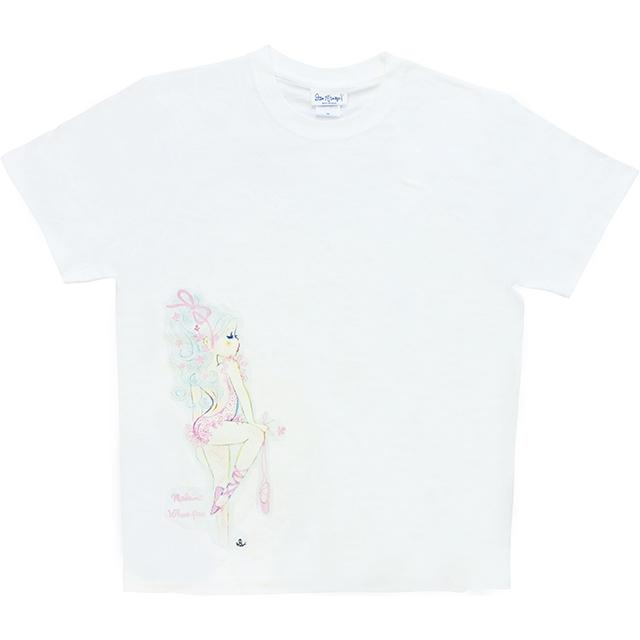 水森亜土 レディースTシャツ バレエ01