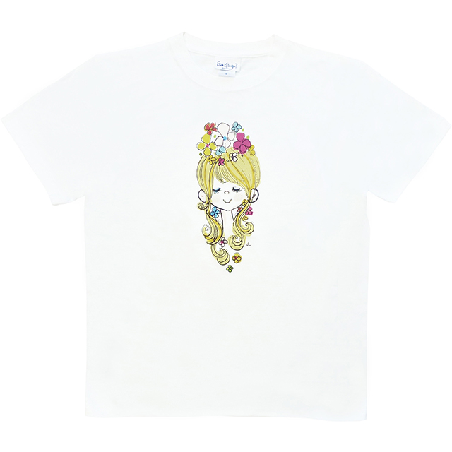 水森亜土 レディースTシャツ カオ