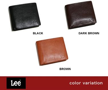 『Lee -リー- 財布』カードをたっぷり収納できる二つ折り革財布、こだわりのイタリアンレザー、やさしい牛革の素材感が楽しめる革財布 サイフ さいふ