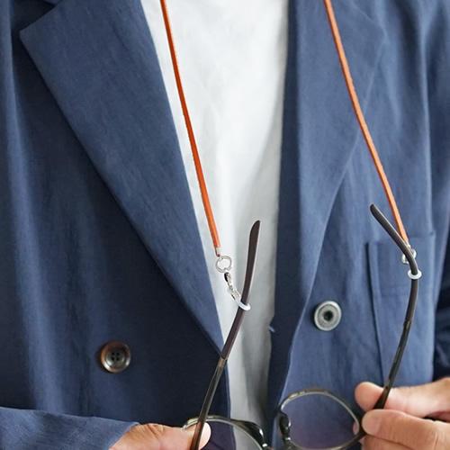 グラスコード マスクコード おしゃれ メンズ レディース 本革 栃木レザー pot ポット とってもナチュラルな雰囲気。メガネをつけてもいいし マスクをつけてもいい レザーストラップ 眼鏡 サングラス 老眼鏡