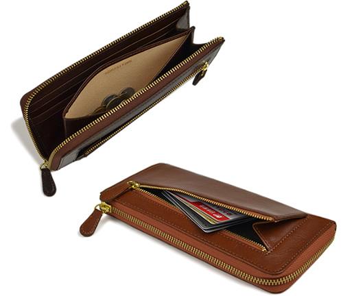 【財布 メンズ レディース 長財布】 イタリアンレザーのL字ファスナー長財布、カジュアルにもビジネスにも。本革 牛革 ギフト プレゼント
