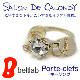 【Porte-clefs キーリング(ゴールド)】『SALON DE CALONDY サロン・ド・カロンディ』指輪みたいなかわいいデザイン、真鍮製の台座に、誕生石をイメージしたスワロフスキーがきらめく。レディース
