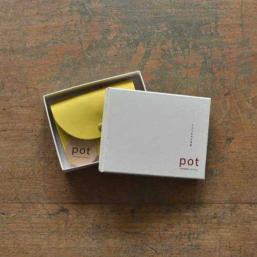 【財布 レディース 小銭入れ カードケース 日本製 カルロス グローブレザー 送料無料】『pot -ポット-』ポップな6つのカラーリング やさしい牛革の手触り 大きく開く小銭入れ ハンドメイド カードもお札も入るコンパクト革財布 二つ折り レディース 【U】