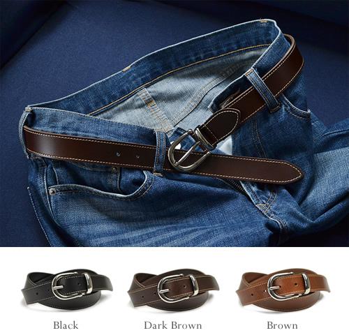 【本革 メンズ レディース ベルト】『couleur -クルール-』カジュアルさとキレイめのちょうどいいバランス、すっきり3cm幅の本革ベルト