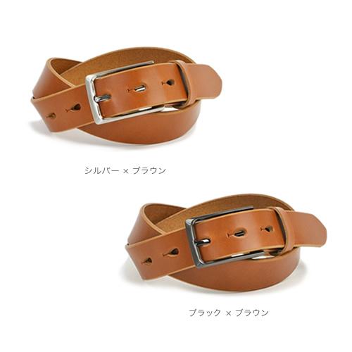 ベルト メンズ 栃木レザー 日本製 ワンタッチでピンが外れるバックルに栃木レザーを合わせたベーシックなデザイン 革 本革 ハンドメイド カジュアル 紳士 経年変化 牛革 ギフト プレゼント 名入れ 名前入れ オリジナル刻印  Nippon de Handmade
