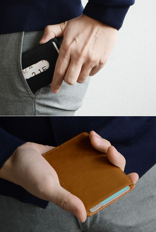 【パスケース 牛革 日本製 メンズ オイルダコタ】『 Nippon de Handmade 』牛革のしっとり味わい深い素材感、ビジネス スタイルに上品なシンプルデザイン、日本で職人さんハンドメイドなパスケース、じっくり 革 を楽しんでいただけるパスケース カードケース