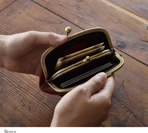 【財布 レディース がま口 イタリアンレザー】カジュアル 本革財布 ウォレット ギフト レディース