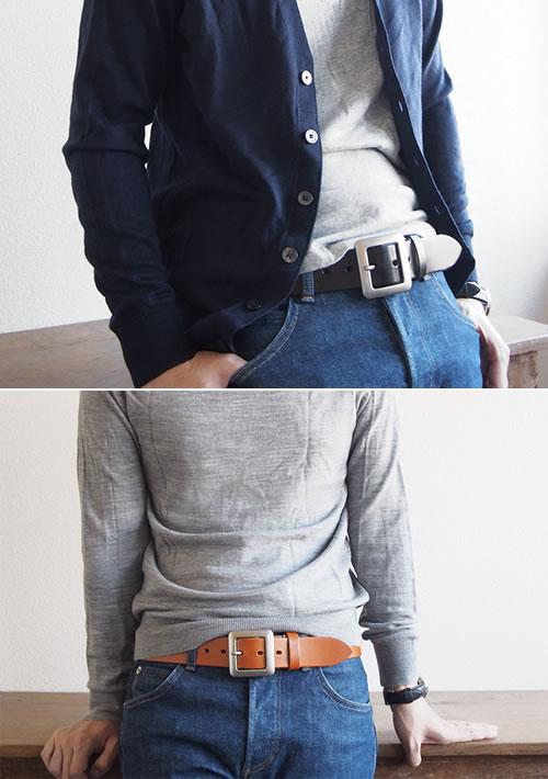 【送料無料 ベルト 日本製 栃木レザー】『 Nippon de Handmade 』しっかり40mm幅 栃木レザーにスタンダードなギャリソンバックル、日本で職人さんがベルト1本1本手作り、革を楽しんでいただける カジュアルベルト 本革ベルト Belt ギフト メンズ