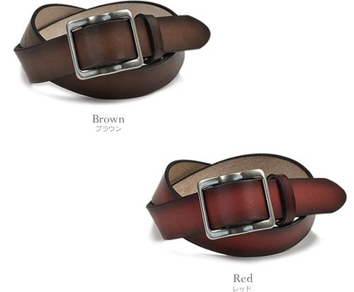【栃木レザー メンズ レディース ベルト】『couleur -クルール-』グラデーションがきれいな栃木レザーベルト 無段階調整 スライドバックル