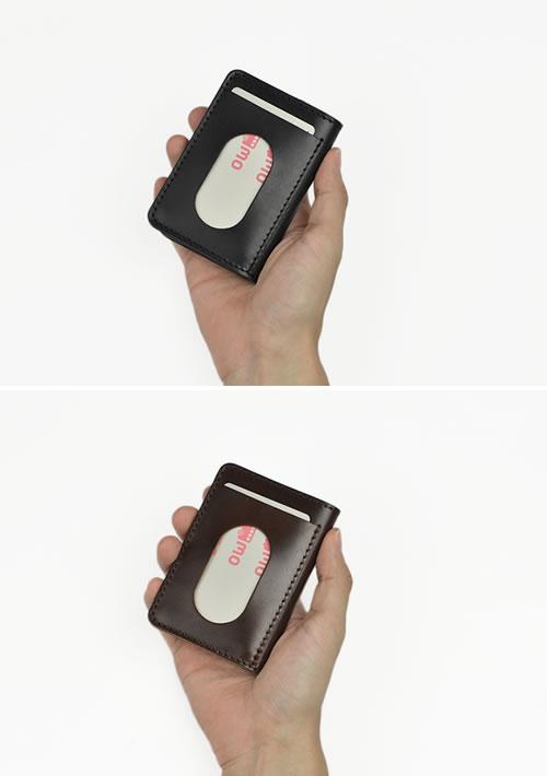 パスケース メンズ 定期入れ コードバン 日本製 送料無料 『 Nippon de Handmade ニッポンデハンドメイド 』 アルプスコードバン 馬革 紳士 革小物