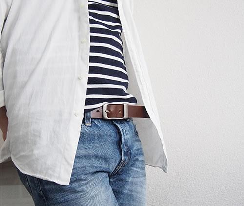 ベルト専門店 の日本製 本革ベルト 送料無料 ちょっぴり細みでスマートにあわせやすいベルト きれいな6色しなやかレザー メンズ レディースに毎日のカジュアルやデニムが楽しくなる ベーシックな牛革ベルト MEN'S LADY'S 男性用 紳士用 ladies Belt ベルト