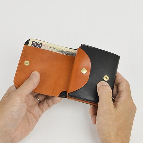 財布 メンズ 二つ折り財布 日本製 送料無料 『 Nippon de Handmade ニッポンデハンドメイド 』 コードバン 馬革 牛革 栃木レザー