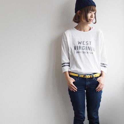 【レディース メンズ カジュアル】くったり感が心地いいウォッシュレザーは、革好きの方にもオススメ。表情豊かな革の素材感とナチュラルな雰囲気を、デニムに合わせて気軽に楽しむ本革ベルト。
