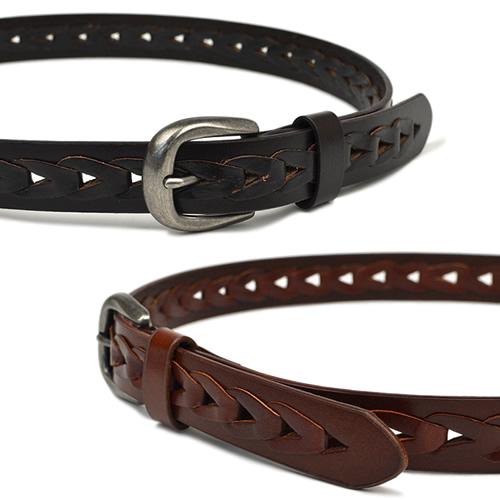 ベルト メンズ きれいめ カジュアル 本革 牛革 couleur クルール チェーンみたいにつながる輪っか 細み3cmの紳士ベルト