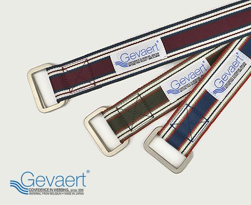 【送料無料 ゲバルト ベルト GEVAERT BANDWEVERIJ】「ゲバルトもいっぱい選べるベルト専門店」ベーシックなカラーのダブルリングベルト。カジュアル メンズ、レディース