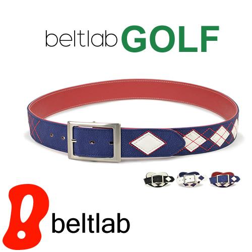 ゴルフ ベルト メンズ ゴルフウェア スポーツウェア ゴルフにおすすめ アーガイルと無地が両方楽しめる リバーシブル
