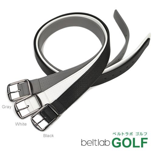 ゴルフ ベルト メンズ ゴルフウェア スポーツウェア ゴルフにおすすめ ストレッチ素材でほどよくフィット。地模様の型押し 千鳥格子がこっそりオシャレ